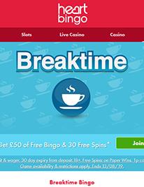 Breaktime Bingo Screenshot 1