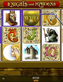 Knights and Maidens Slot Screenshot 2
