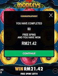 7 Monkeys Slot Screenshot 3