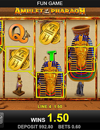 Amulet of the Pharaoh Slot Screenshot 1