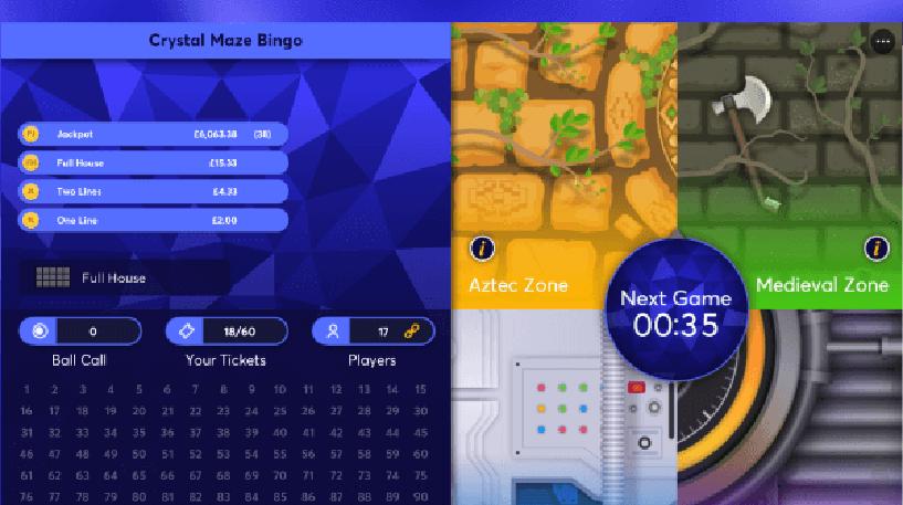 Crystal Maze Bingo Screenshot 2
