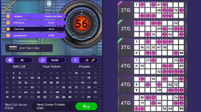 Crystal Maze Bingo Screenshot 1