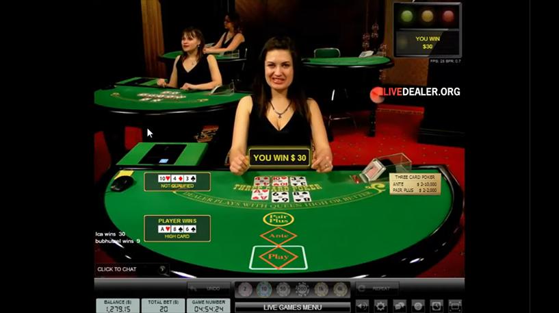 Live Three Card Poker Screenshot 2