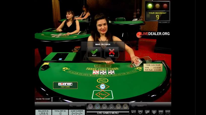 Live Three Card Poker Screenshot 1