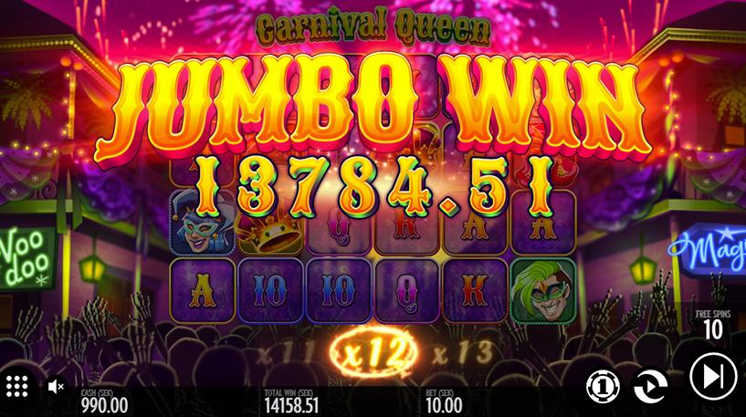 Carnival Queen Slot Screenshot 2