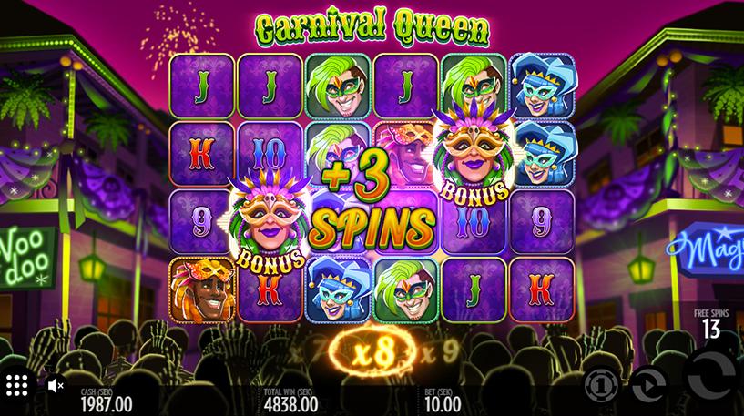 Carnival Queen Slot Screenshot 1