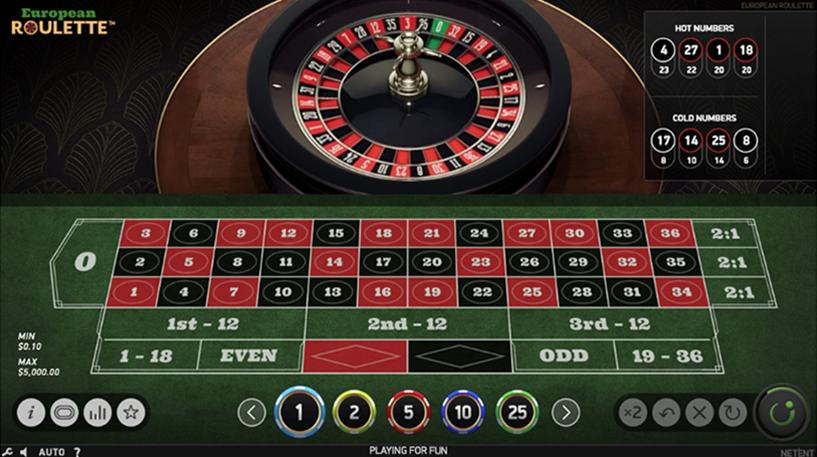 European Roulette Screenshot 2