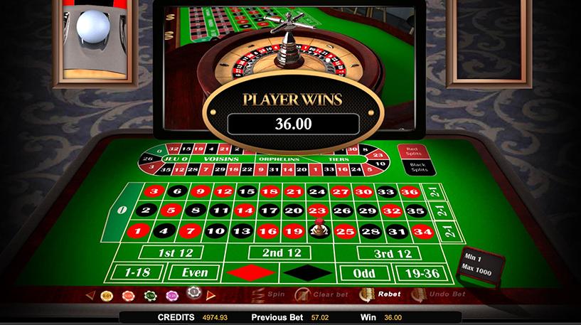 European Roulette Screenshot 1