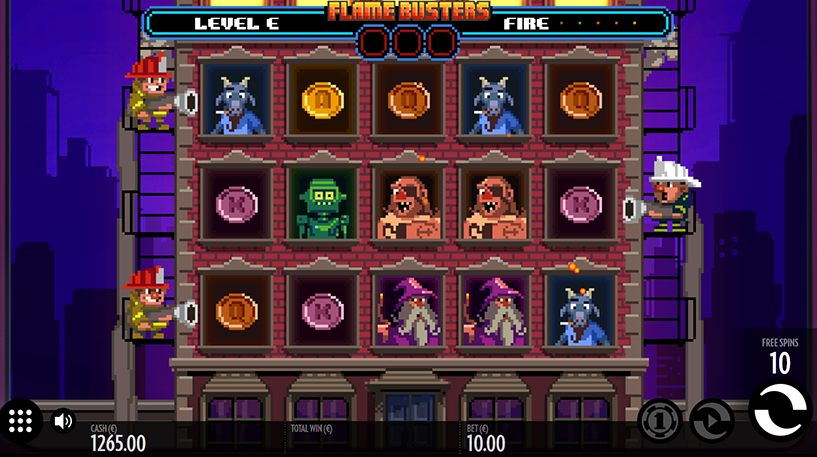 Flame Busters Slot Screenshot 3