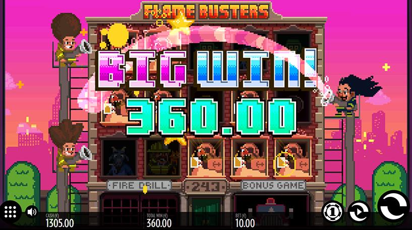 Flame Busters Slot Screenshot 2