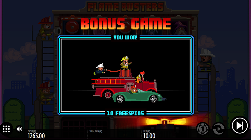 Flame Busters Slot Screenshot 1