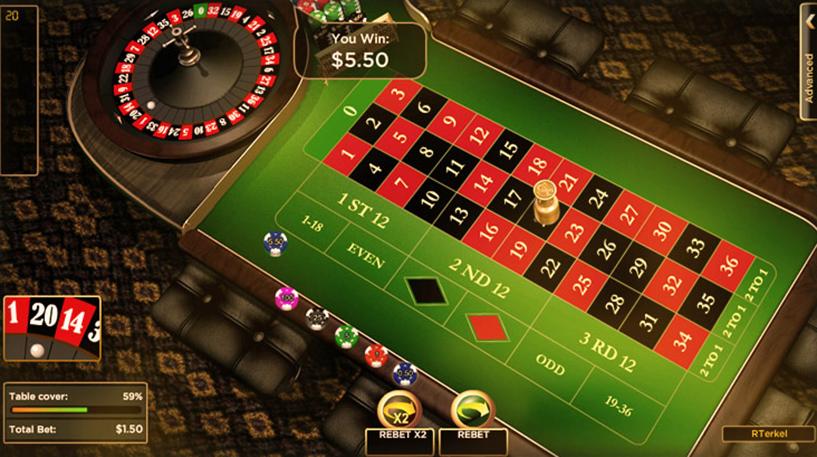 Low Stakes European Roulette Screenshot 3