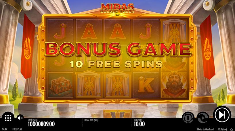 Midas Golden Touch Slot Screenshot 1