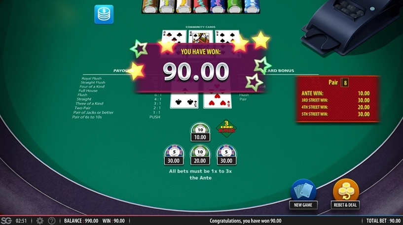 Mississippi Stud Poker Screenshot 3
