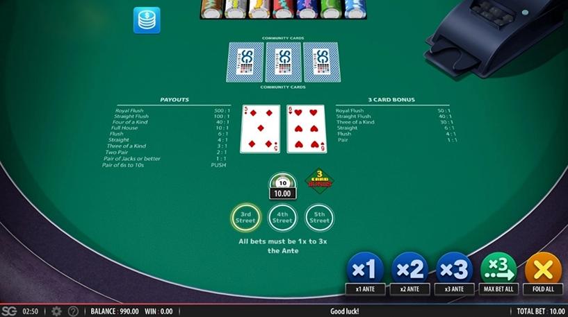 Mississippi Stud Poker Screenshot 2