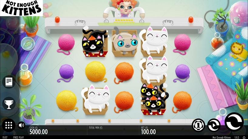 Thunderkick Releases New Slot Not Enough Kittens
