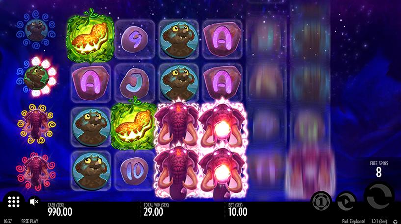 Pink Elephants Slot Screenshot 3