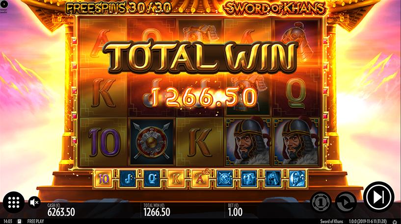 Sword of Khans Slots Screenshot 1