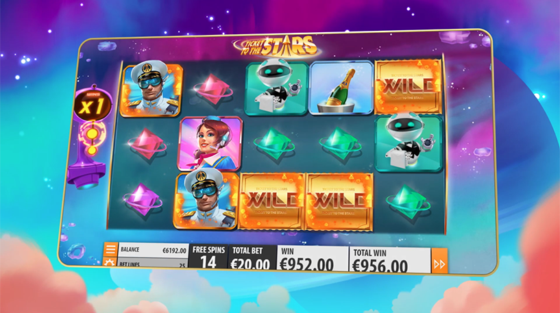 Ticket to the Stars Slot Screenshot 1