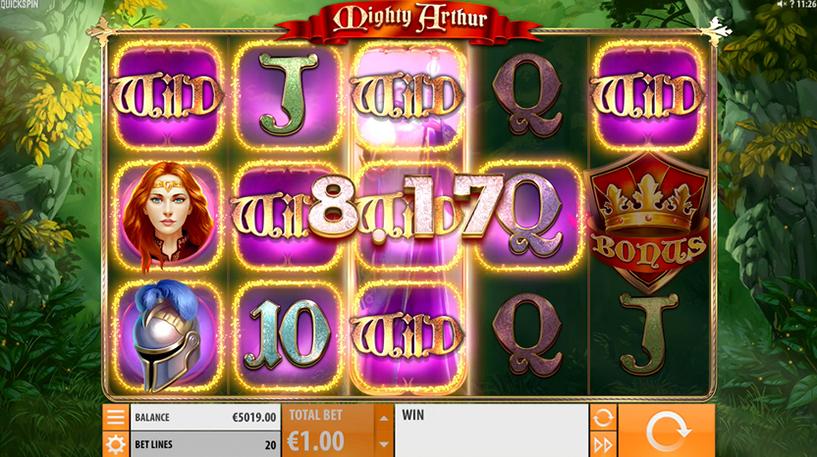 Mighty Arthur Slot Screenshot 2