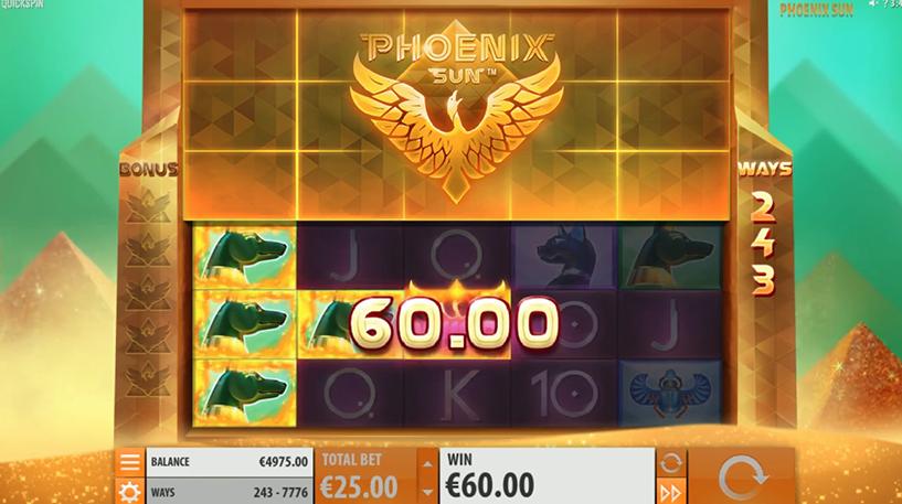 Phoenix Sun Slot Screenshot 2