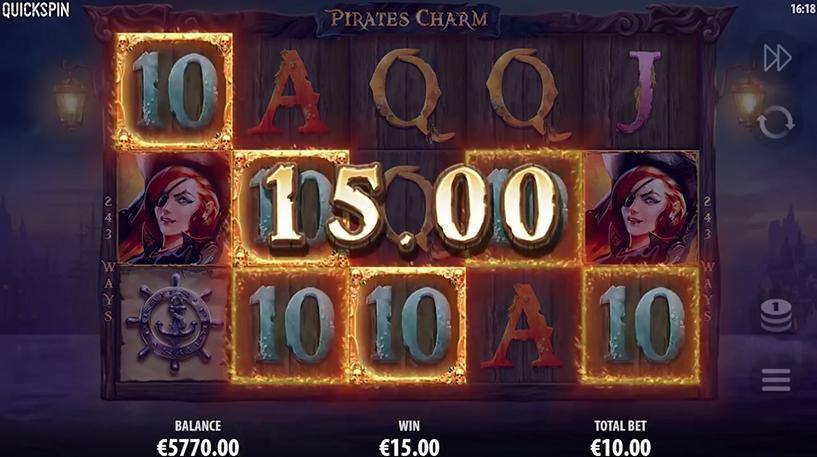 Pirate's Charm Slot Screenshot 3