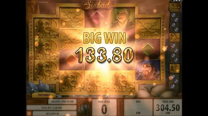 Sinbad Slot Screenshot 2