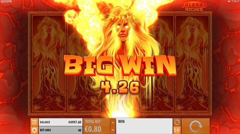 Volcano Riches Slot Screenshot 1