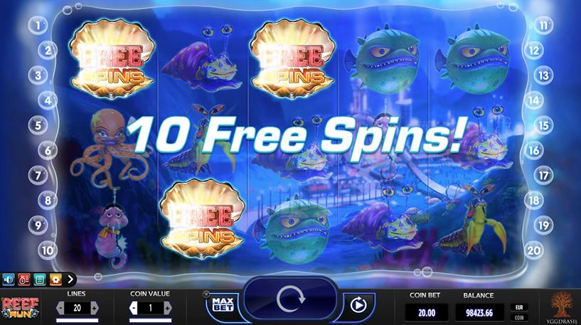 Reef Run Slot Screenshot 1