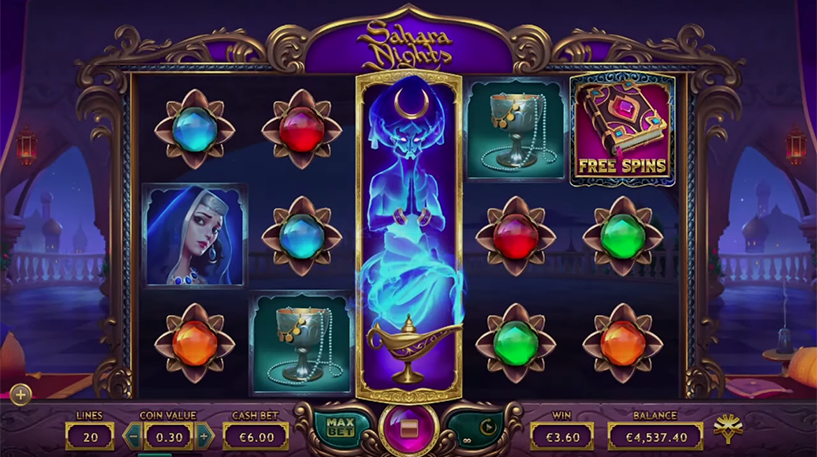Sahara Nights Slot Screenshot 3