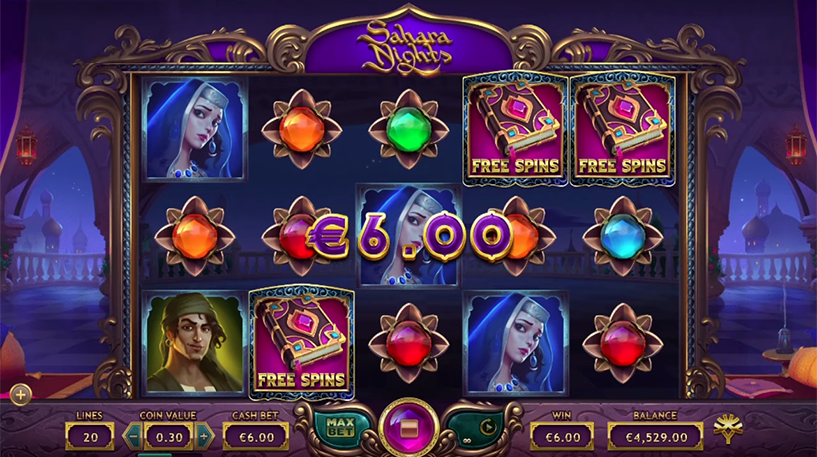 Sahara Nights Slot Screenshot 1
