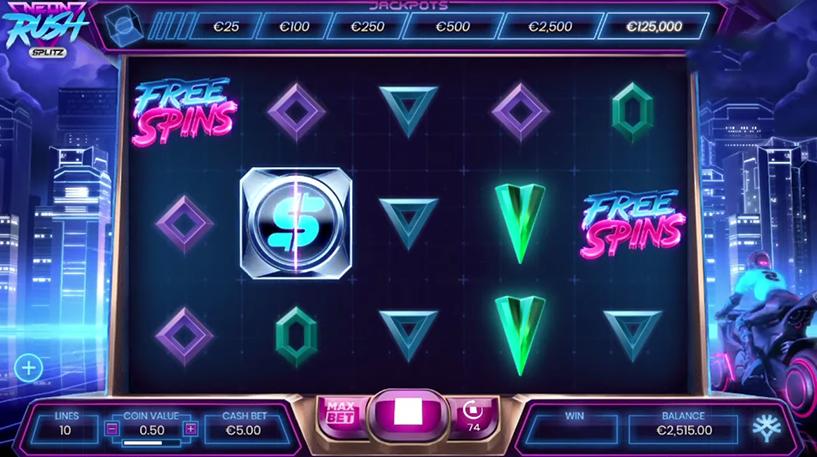Neon Rush Slot Screenshot 3