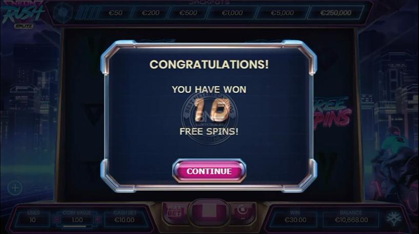 Neon Rush Slot Screenshot 1