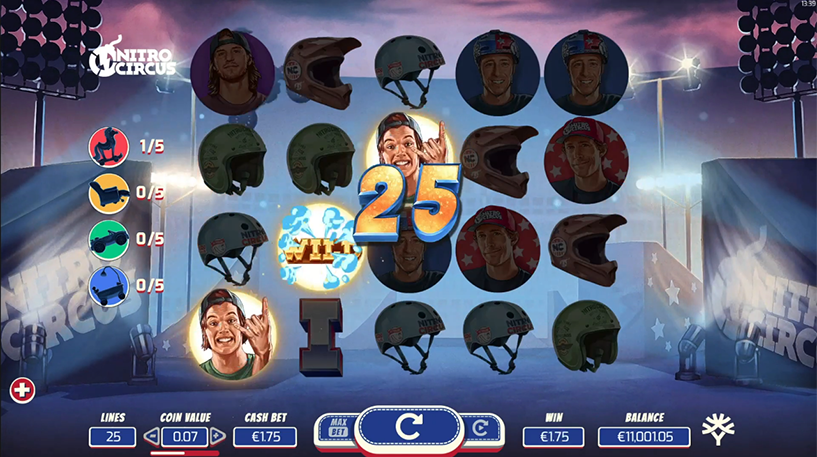 Nitro Circus Slot Screenshot 2