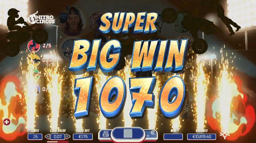 Nitro Circus Slot Screenshot 1