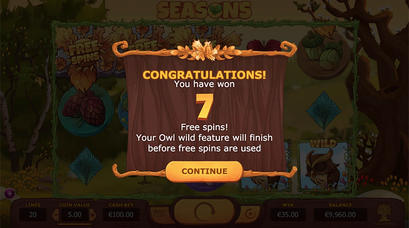 Seasons Slot Screenshot 2
