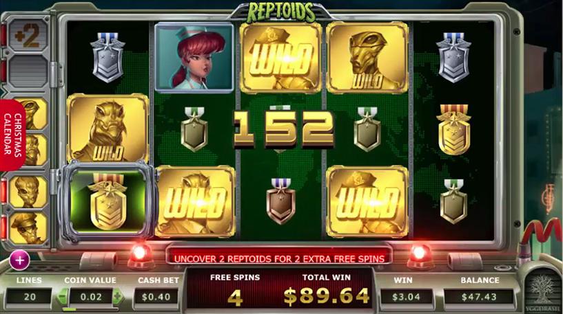 Reptoids Slot Screenshot 3