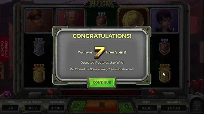 Reptoids Slot Screenshot 2