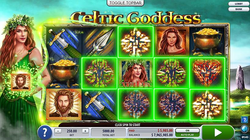 Celtic Goddess Slot Screenshot 3