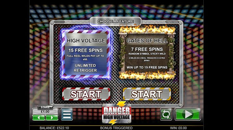 Danger High Voltage slot Screenshot 2
