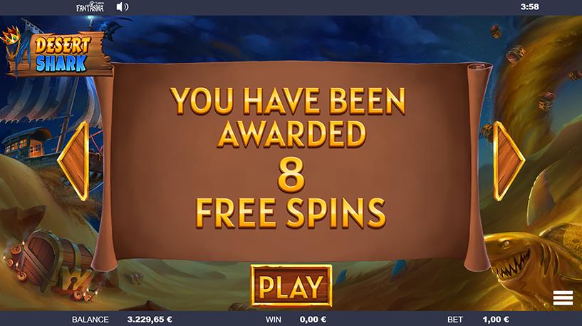 Desert Shark Slot Screenshot 2