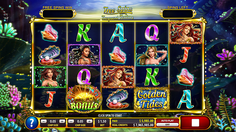 Golden Tides Slot Screenshot 1