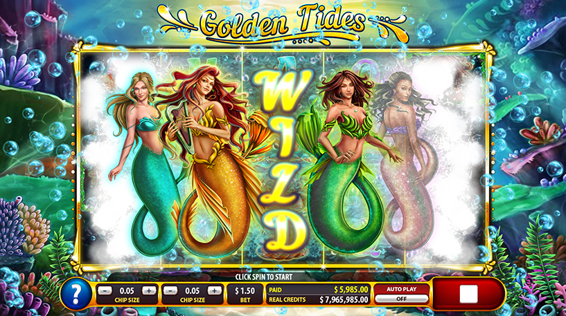 Golden Tides Slot Screenshot 2