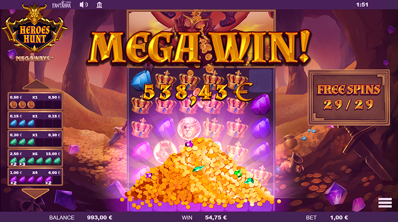 Heroes Hunt Megaways Screenshot 3
