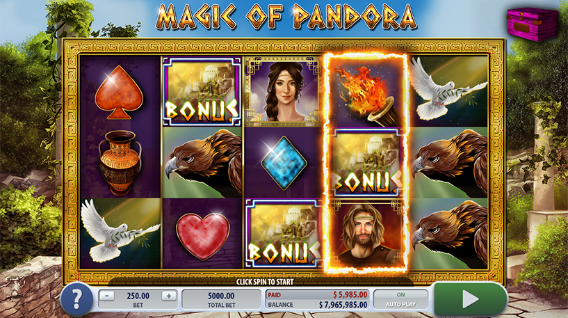 Magic of Pandora Slot Screenshot 1