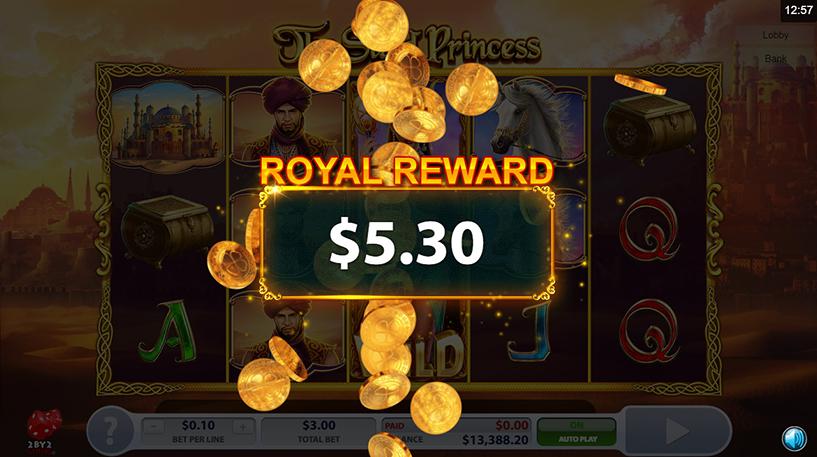 The Sand Princess Slot Screenshot 3