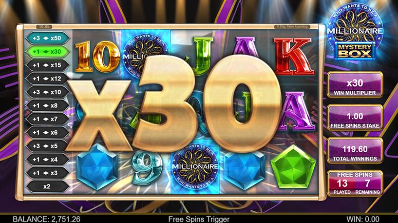 Who Wants to be a Millionaire Mystery Box Slot Screenshot 2
