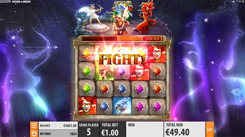 Artemis Vs Medusa Slot Screenshot 1