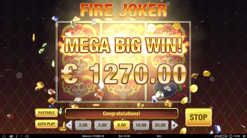Fire Joker Slot Screenshot 1