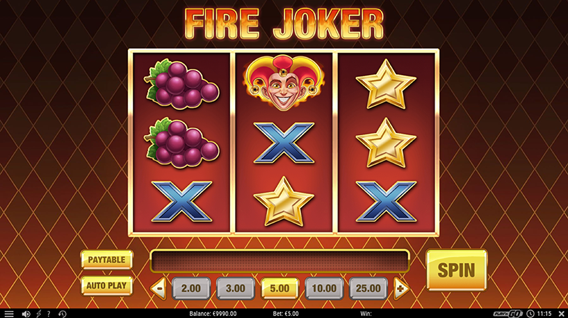 Fire Joker Slot Screenshot 3
